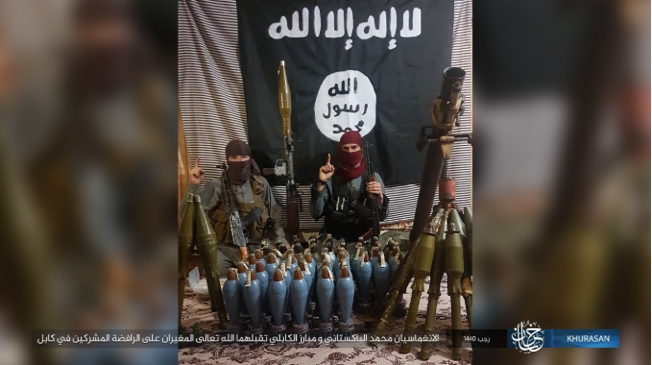 The two ISIS operatives who carried out the suicide bombing attack on a march in Kabul (Shabakat Shumukh, March 8, 2019).