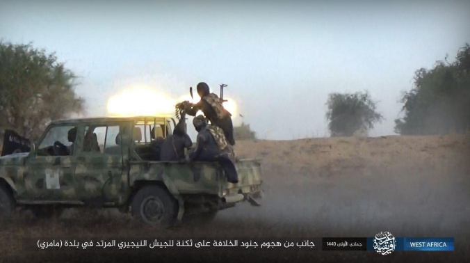 ISIS attack on a post of the Nigerian army (Shabakat Shumukh, January 17, 2019).