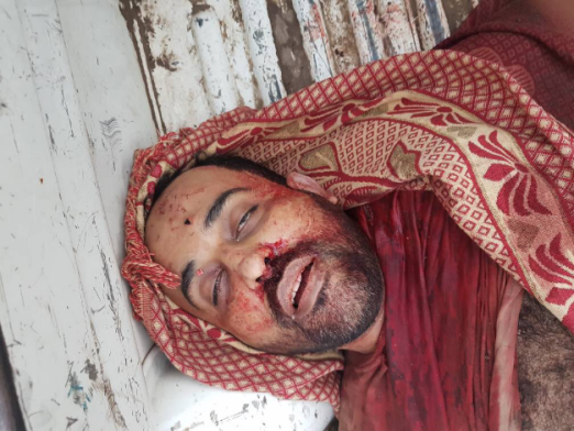 The body of the emir of ISIS's Aden region, Saleh Nasr Fadhel al-Bahshi, killed in the exchange of fire (al-Arabiya, April 28, 2018).