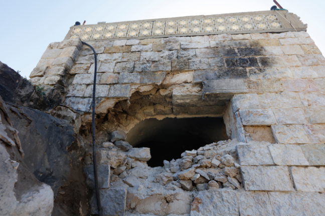 The house where Omar Abu Layla hid in the village of Abuyan (Wafa, March 20, 2019).