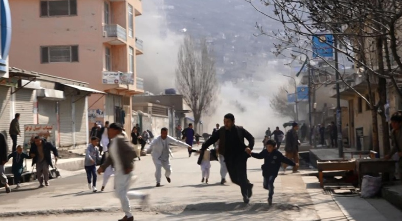 The neighborhood in west Kabul where the attack took place (Drexl Spivey@RisboLensky Twitter account, March 21, 2019