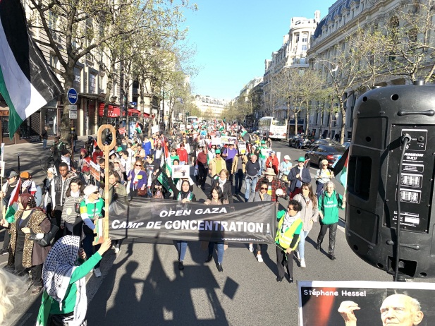 Demonstration in Paris (europalestine solidarity website, March 31, 2019).
