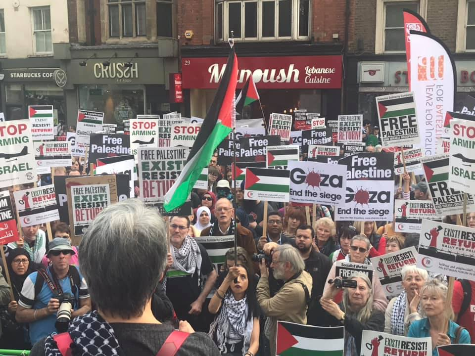 Demonstration in London (Zaher Birawi's Facebook page, March 31, 2019).