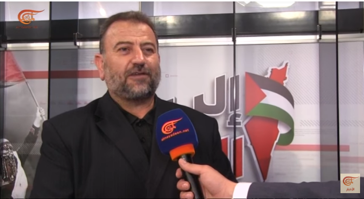 Saleh al-'Arouri, deputy head of Hamas' political bureau, interviewed by the Lebanese al-Mayadeen (al-Mayadeen News YouTube channel, March 30, 2019).