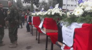 """Funeral of fighters of the """"Tiger"""" forces (Nidaa Suriya, April 4, 2019)"""