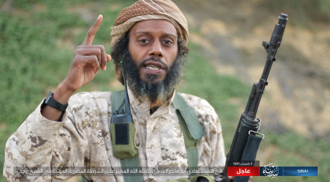 Abu Hajer Al-Masri (i.e., the Egyptian), ISIS operative who carried out a suicide bombing attack in the city of Sheikh Zuweid (Shabakat Shumukh, April 9, 2019)