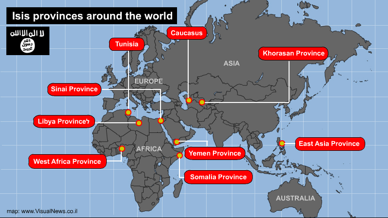 """The """"routine"""" activity of ISIS's provinces around the world"""