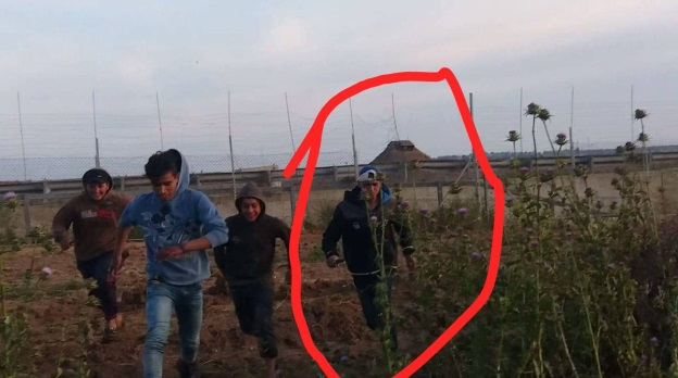 The Palestinian killed during the march, shown a short time before his death near the security fence in eastern Jabalia (Paldf Twitter account, April 13, 2019).