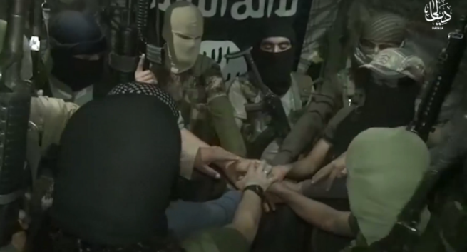 ISIS operatives in the Diyala region renewing their pledge of allegiance to Abu Bakr al-Baghdadi (archive.org, April 14, 2019).