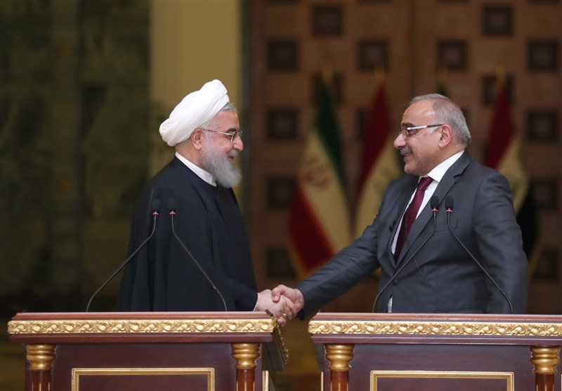 The Iranian president welcomes Iraq's prime minister (Tasnim, April 6, 2019)