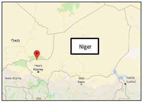 The area where ISIS operatives attacked a Niger army convoy (Google Maps).