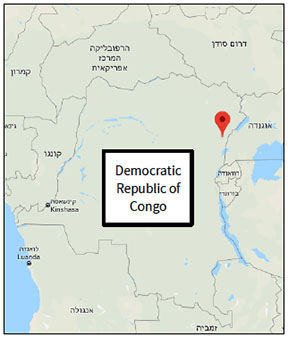 The Beni area, near the border with Uganda, is the main arena of ISIS's activities in eastern Congo (Google Maps)