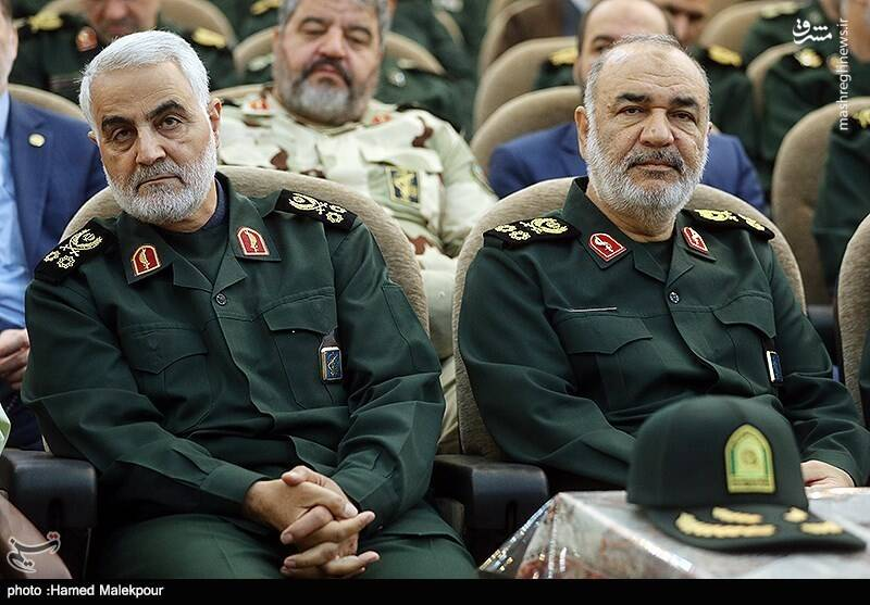 Salami and the Commander of the Qods Force, Qasemi (Tasnim, April 24, 2019)