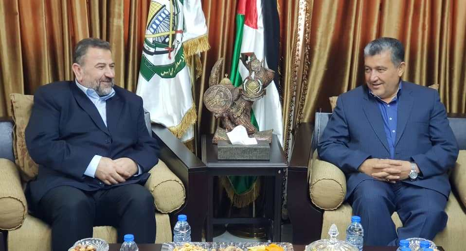 Saleh al-'Arouri meet with the Iranian parliament member (IRNA in Arabic, April 19, 2019).