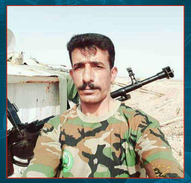 Popular Mobilization operative who was killed in ISIS sniper fire northeast of Baqubah (Mu'ta news agency report as released in Shumukh Al-Islam, April 26, 2019).