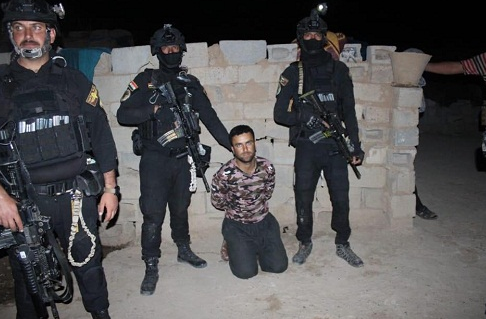 One of the three ISIS operatives detained east of Irbil (Iraqi News Agency, April 28, 2019)
