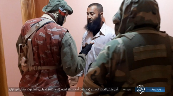 The preacher being captured by ISIS operatives in Libya.