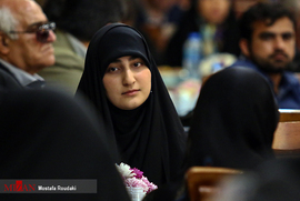 The ceremony honoring mothers and widows of Hezbollah fighters killed in Syria. On the right: Zeynab Soleimani (MizanOnline.com, April 29 2019).