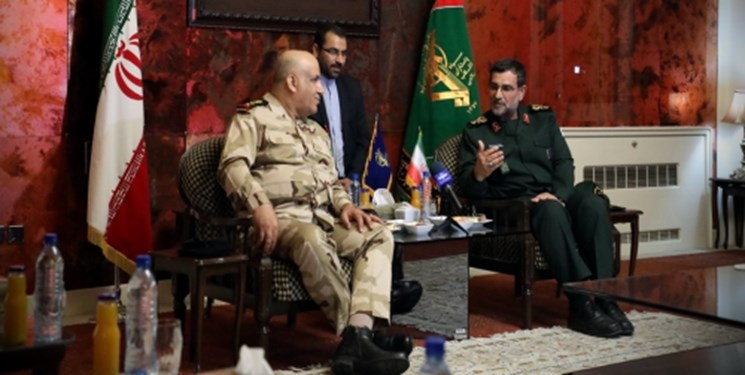 The meeting between the commander of the IRGC's fleet and the commander of the Iraqi fleet (Fars, May 1 2019).