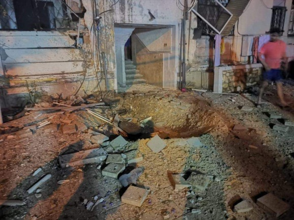 Rocket hit on a residential dwelling in Ashqelon (Palinfo Twitter account, May 5, 2019).