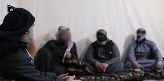 The operatives who were shown speaking with Al-Baghdadi in the video (Akhbar al-Muslimeen, April 29, 2019)
