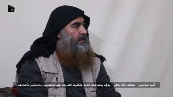Al-Baghdadi calling on ISIS operatives to increase their attacks against Western countries and against the regimes that help them (Akhbar al-Muslimeen, April 29, 2019)