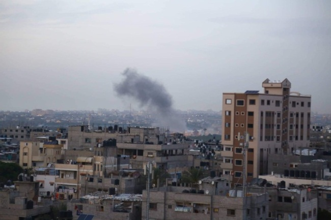 Attack on Hamas' internal security compound in the Rimal neighborhood of Gaza City (IDF spokesman's website, May 5, 2019).