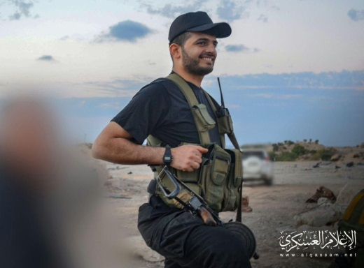 Hamed al-Khoudary armed and in uniform (Gaza Press Twitter account, May 6, 2019).
