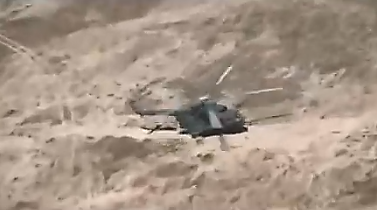 Iraqi army helicopter landing ground forces (NAS YouTube channel; Iraqi news website, May 5, 2019)