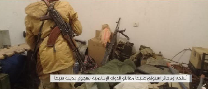 Weapons and ammunition that fell into ISIS's hands in an attack against the military headquarters of Haftar's Army in the Sabha area
