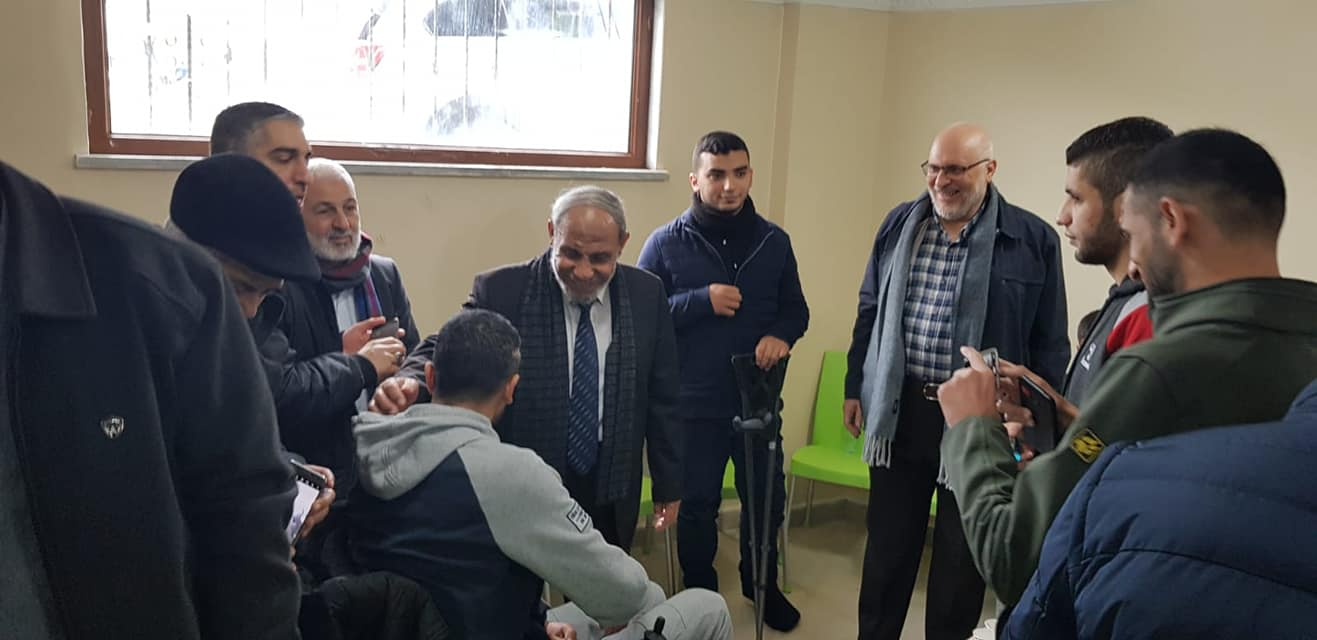 Hamas delegation visits wounded of the return marches hospitalized in Turkey (Facebook page of Sami Mahmoud al-Zahar, November 27, 2018)