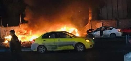 The scene of the suicide bombing attack (www.iraqnews-in.com, May 10, 2019).