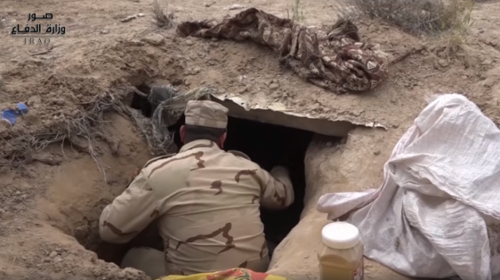 ISIS underground shelter located during the operation (Iraqi Defense Ministry, May 8, 2019)