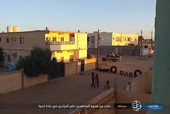 Attack by ISIS operatives in the town of Ghadwa (Telegram, May 10, 2019)