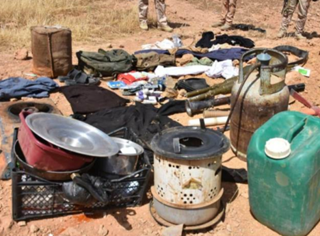 Military equipment and weapons found in one of the ISIS camps in the western desert of the Al-Anbar Province (Al-Sumaria, May 27, 2019).