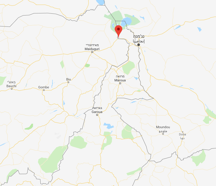 The Fotokol region, near the border between Cameroon and Nigeria (Google Maps)