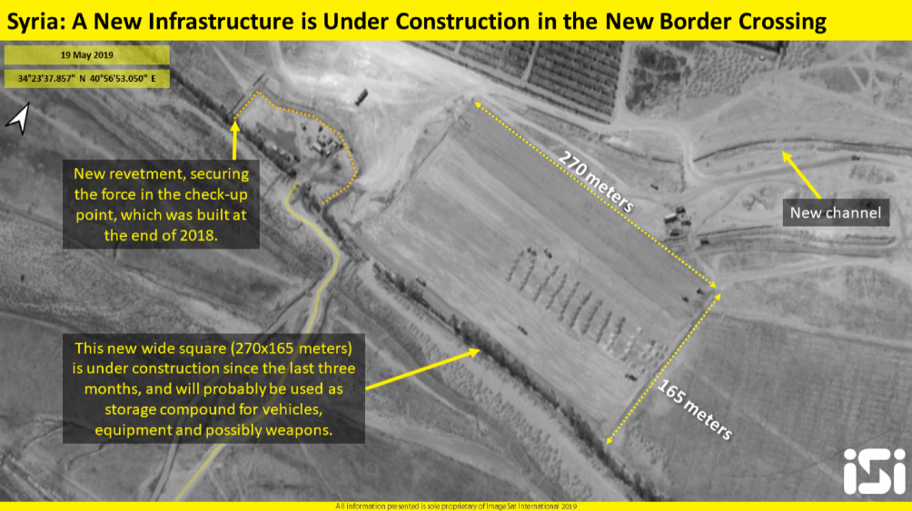 The new compound constructed in the Albu Kamal crossing area (ImageSat International [ISI], May 19, 2019)