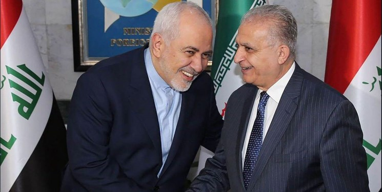 Iranian and Iraqi foreign ministers in Baghdad (Fars, May 26, 2019)