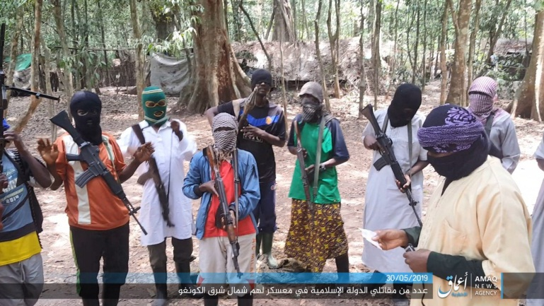 Photo released by ISIS showing the organization's operatives in northeastern Congo (Amaq News Agency, as posted on Telegram, May 30, 2019)