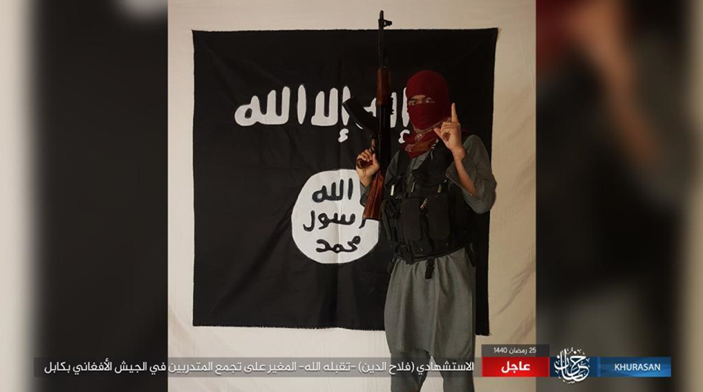 The suicide bomber codenamed Fallah al-Din (Photo issued by ISIS's Khorasan Province, as posted on Telegram, May 30, 2019)