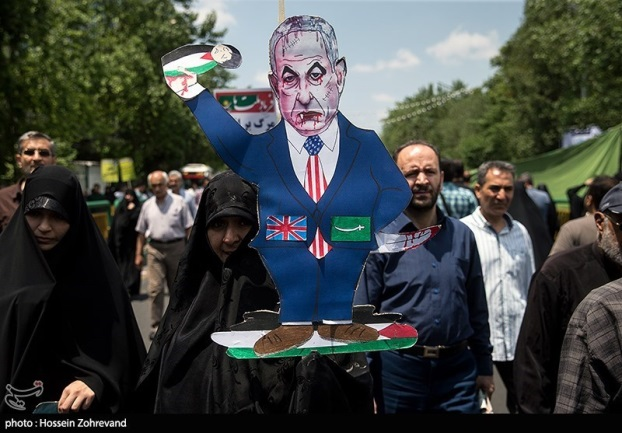 Jerusalem Day parade in Tehran (Tasnim, May 31, 2019).