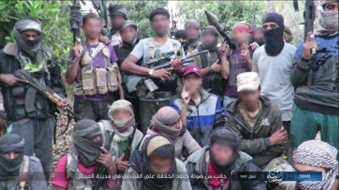 ISIS operatives in Sinai who took part in the combined attack (Telegram, June 5, 2019).