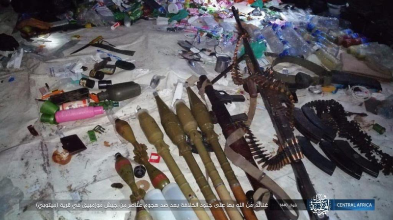 Weapons seized from the Mozambique army (Telegram, June 4, 2019)
