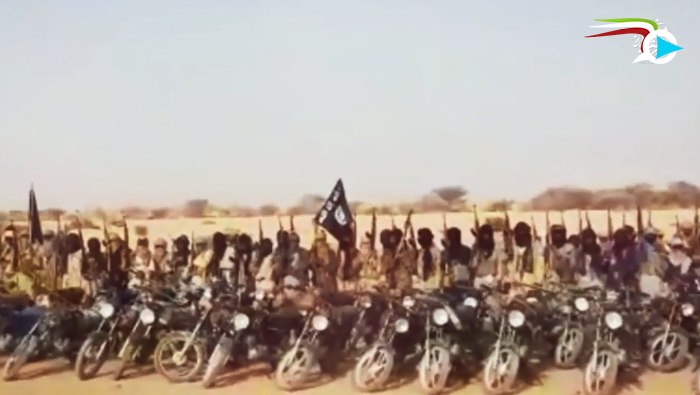 Demonstration by ISIS operatives riding motorcycles, which serve as an important mode of transportation enabling ISIS operatives to move in desert and semi-desert terrain (mihanvideo.com file-sharing website, June 16, 2019)