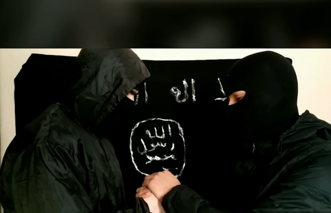 Two operatives of the Caucasus Province renewing their pledge of allegiance to ISIS's leader (Telegram and the archive.org file-sharing website, June 26, 2019)