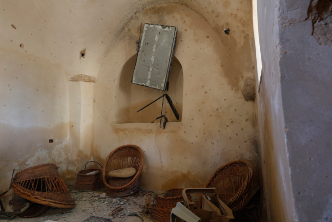The house in the village of Abwein where Omar Abu Layla hid and was killed by the Israeli security forces (Wafa, March 20, 2019).