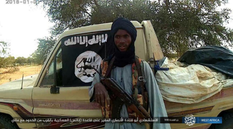 One of the suicide bombers, codenamed Abu Qatada al-Ansari, before the attack on the Niger army base (West Africa Province, as posted on Telegram, July 5, 2019)