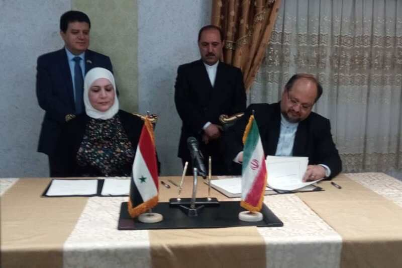 Signing of a cooperation agreement between the Syrian and Iranian ministers of welfare and labor (IRNA, July 10, 2019)