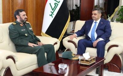 The meeting between the Iranian military attaché to Baghdad and the incoming minister of defense (ISNA, June 30, 2019)