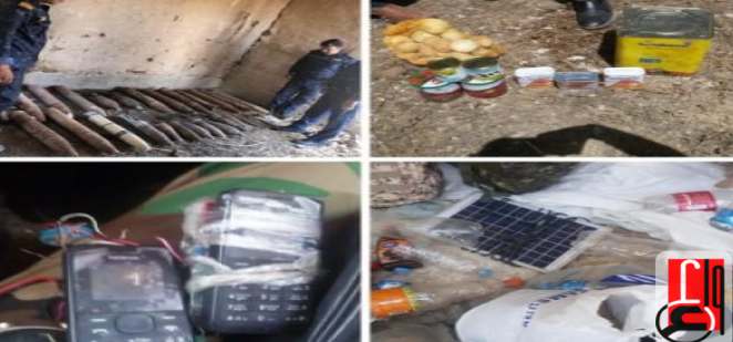 Weapons and equipment found in a hiding place and a tunnel used by ISIS operatives (Iraqi News Agency, July 14, 2019)